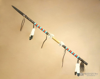 Tigua Indian Beaded Buffalo Spear