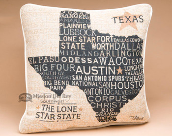 Lone Star State Throw Pillow - Texas