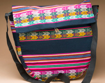 "Andean Woven & Lined Drum Bag 16""- Navy Blue (db13)"