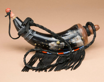 Native American Powder horn -Black