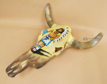 Southwestern Indian Art Steer Skull -Kachina
