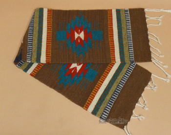 Handwoven Zapotec Wool Table Runner 10x40