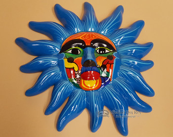 Hand Painted Talavera Village Sun