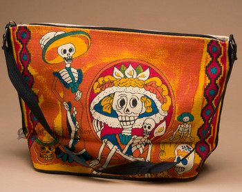 Southwestern Day of the Dead Purse -Flamenco  (hipdod207)