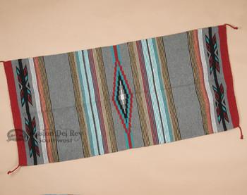 "Southwestern Feather Style Area Rug 32""x64""- Grey"