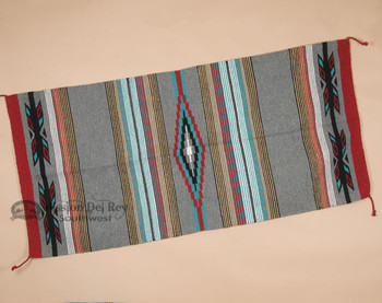 "Southwestern Feather Style Area Rug 32""x64""- Grey"
