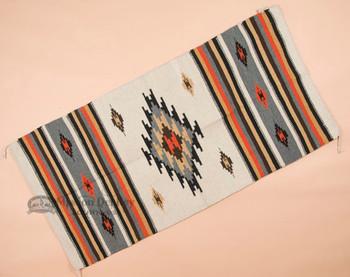 Zapotec Style Southwest Fiesta Area Rug 32x64 -White