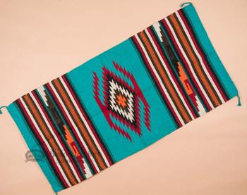 Southwestern Hand Woven Fiesta Rug 32x64 -Turquoise
