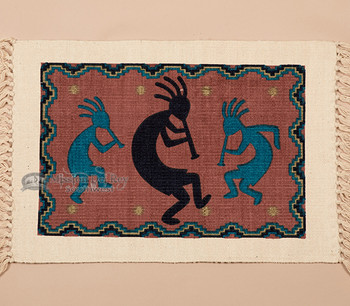 Southwestern Cotton Placemat 13x19 -Kokopelli