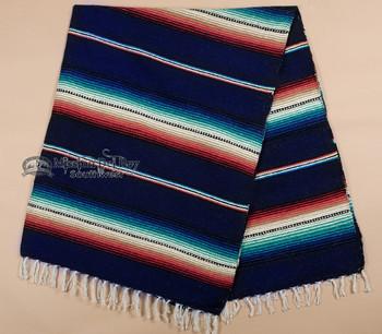 """Rio Bravo Serape Blanket 56"""" x 74"""" -Navy"""