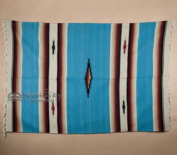 Woven Diamond Center Style Blanket 5x7 -Blue