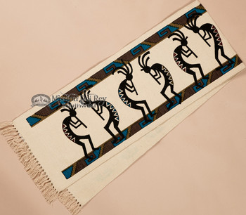 Southwest Textured Table Runner 13x72 -Kokopellis