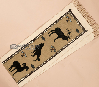 Southwestern Textured Table Runner -wildlife closeup