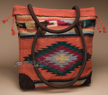 Southwest Rug Style Tote Bag 17x17 (mont-e)