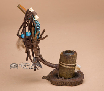 Native American Standing Antler Pipe