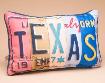 Western Decor Throw Pillow - Texas License Plate