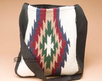 Southwestern Wool Tote -White
