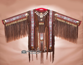 Native American Beaded Elk War Shirt