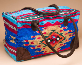 Native Southwest Weekender Rug Bag -Blue