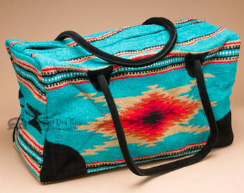 Native Southwest Weekend Rug Bag -Teal