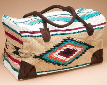 Native Southwestern Weekender Rug Bag -Tan