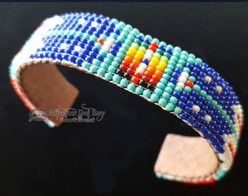 Native American Navajo Hand Beaded Cuff Bracelet