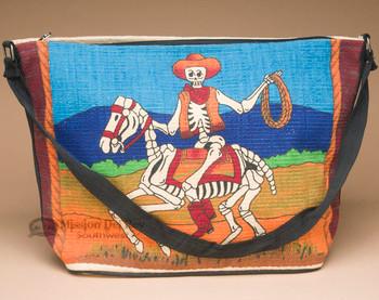 Cotton Day Of Dead Purse -Skeleton Cowboy Lasso
