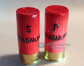 Ceramic Shotgun Shell Salt & Pepper Shakers