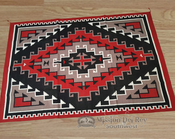 Handwoven Wool Rug With Native Inspired Design