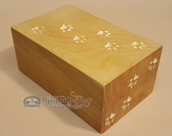 Pet Cremation Urn with Paw Prints