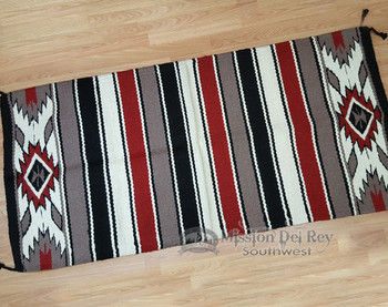"Handwoven Wool Saddle Blanket 32""x64"" -Handwoven"
