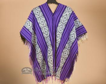 V Neck Poncho -Wool