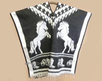 Black Horse Poncho - Adult Size
