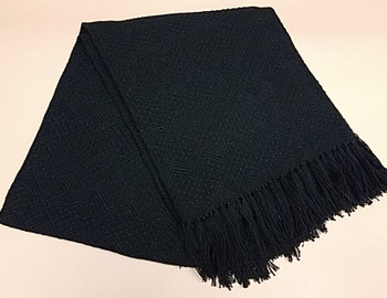 Fringed Alpaca Blanket 64x80 - Black