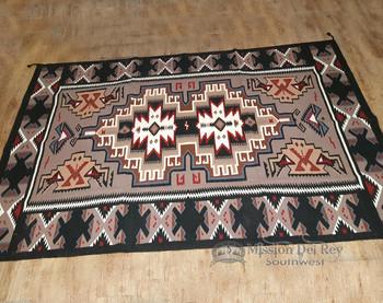 Large 6'x9' Southwestern Area Rug -Navajo Style Design