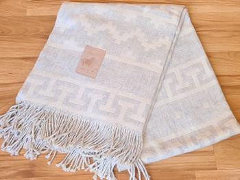 Fine Woven Alpaca Throw Blanket