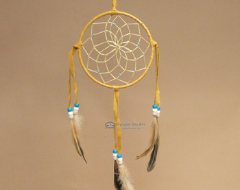 Gold Dreamcatcher with Turquoise accent