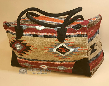 Native Southwestern Weekender Rug Bag -Multicolor