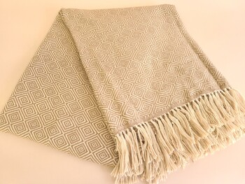 Genuine Alpaca Throw Blanket