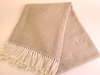 Genuine Woven Alpaca Throw Blanket