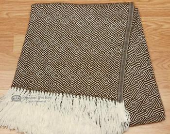 Genuine Woven Alpaca Throw Blanket