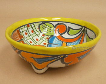 Hand Painted Footed Talavera Bowl