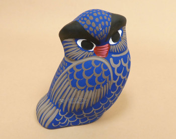 Matte Finish Hand Painted Pottery Owl