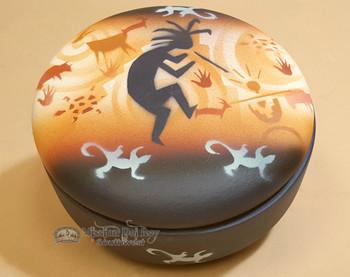Handpainted Navajo Pottery Jewelry Bowl