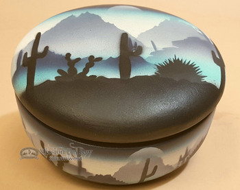 Handpainted Navajo Pottery Jewelry Box