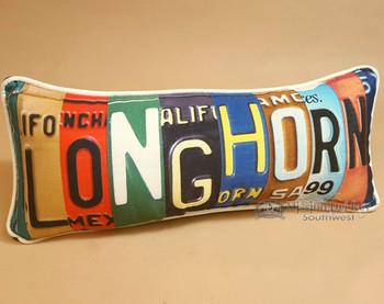 Western Decor Throw Pillow - Longhorn