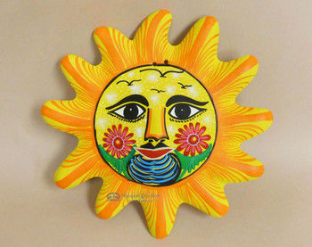 """Hand Painted Rustic Sun 10"""""""
