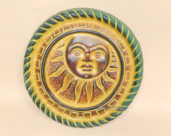 Southwestern Painted Clay Sun
