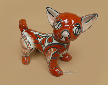 Southwestern Hand Painted Talavera Dog 8""