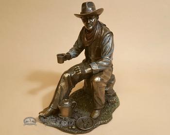 Southwestern Bronze Sculpture - Cowboy Coffee Break